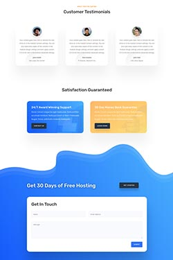 Satisfaction page layout