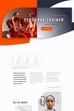personal trainer web page layout